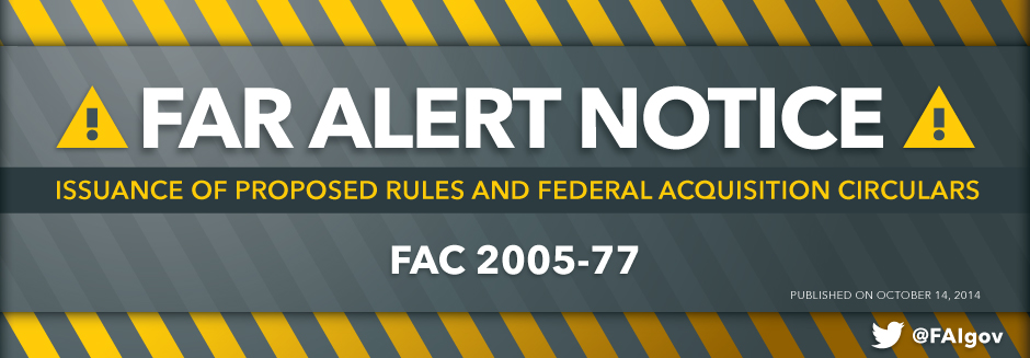 FAR Alert Notice - October 14, 2014