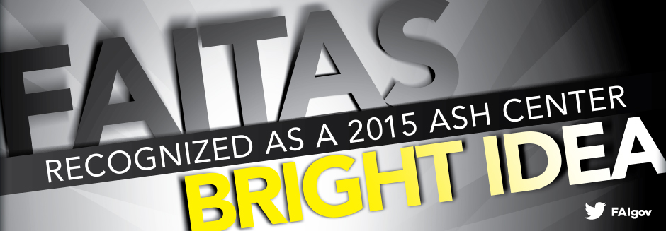 FAITAS recognized as a 2015 Ash Center Bright Idea!