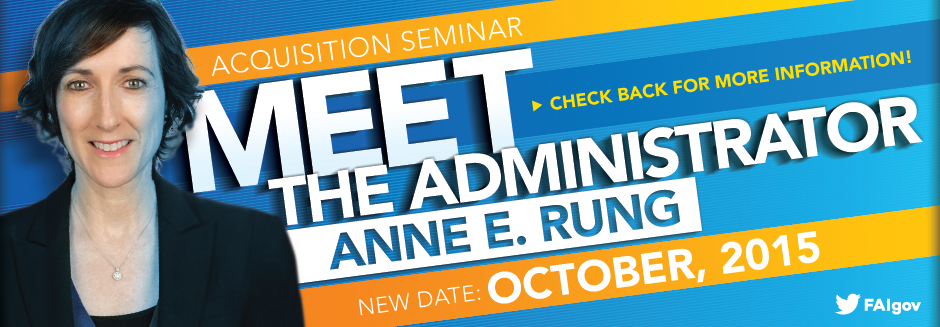 Acquisition Seminar: Meet the Administrator - Postponed