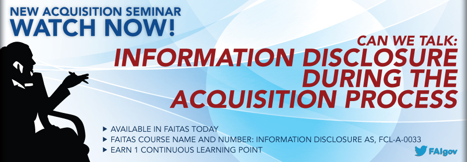 Acquisition Seminar: Information Disclosure