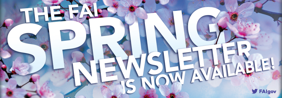 Read the FAI Spring 2016 Newsletter Now!