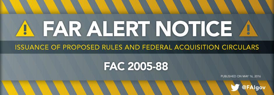 FAR Alert Notice - May 16, 2016
