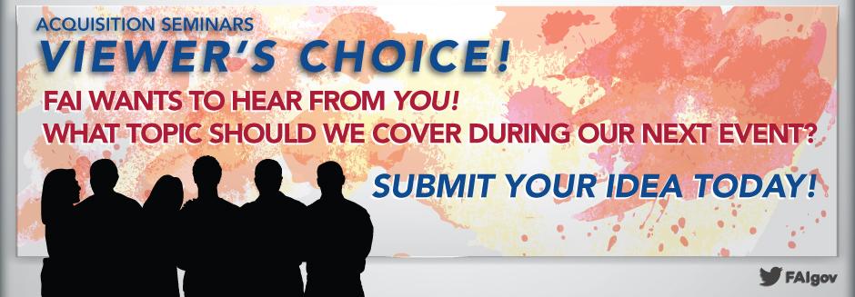 Next Acquisition Seminar: YOU Choose!