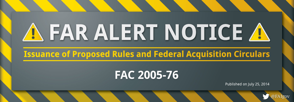 FAR Alert Notice - July 25, 2014