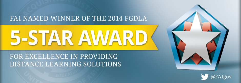 FAI Wins Federal Government Distance Learning Award!