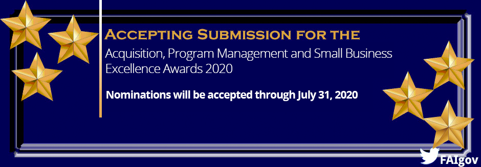 Acquisition, Program Management And Small Business Excellence Awards 2020