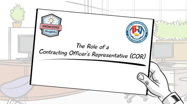 The Role Of A Contracting Officers Representative Cor Fai