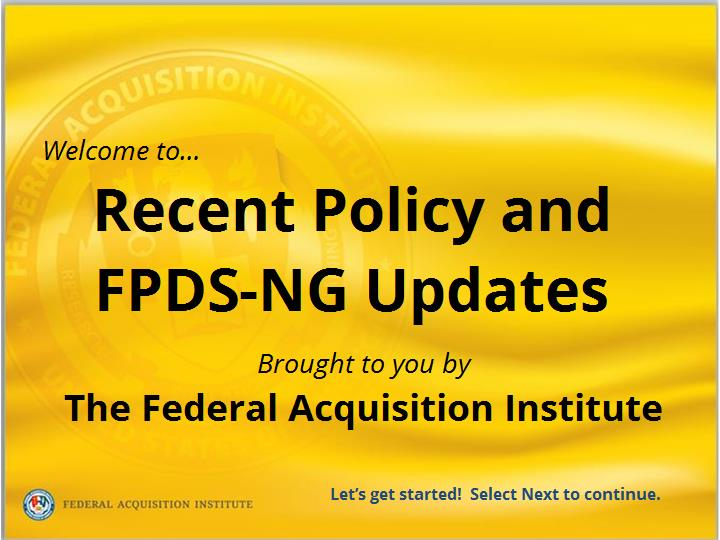 FPDS Training - Articulate - New